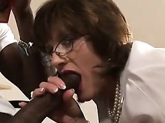 Lady Sonia cummed on by black guy