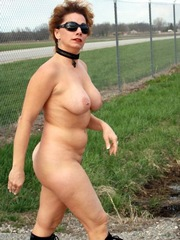 Naked old women without panties