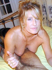 Luscious wife jerks husbands..