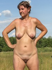 Busty grannies without panties