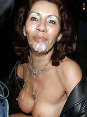 Wow! Curly old cougar got a powerful facial cumshot