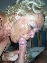 The old lady swallows a dick