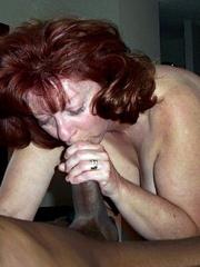 Curly redhead grandma sucked..