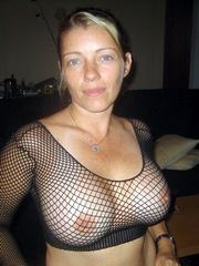 Blonde wife has a perfect tits