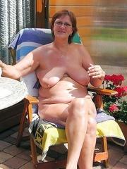 Curvy granny has a huge..