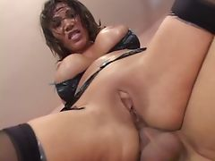 Hot Babe On Stocking Sucked Cock And Nailed I