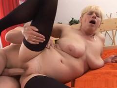 Exotic pornstar in horny hairy, fishnet porn clip