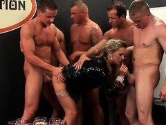 Mature playgirl gives golden shower while riding pecker