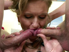 Young guys sharing a hot mom