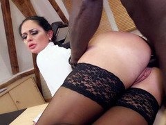 Ravishing mature with amazing tits gets plowed by a BBC