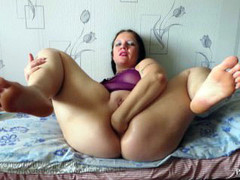 anal fisting of a mature woman