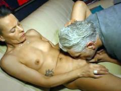 DeutschlandReport - German mature amateur gets cum on tits in hot pickup