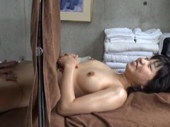 Subtitled CFNF ENF Japanese lesbian massage clinic oral