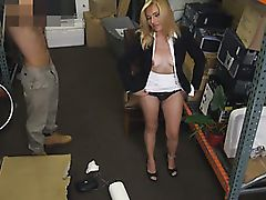 Hot blonde milf pussy pounded and receives a payment