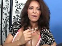 Glamour milf Charlee Chase tugging dick pov