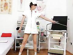 Brunette orgasmic wife nurse