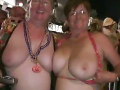 Mardi Grass sluts going crazy in public