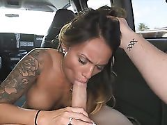 Sweet horny Natalia Mendez sucking a huge cock