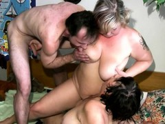 Granny And Her Nanny Have A Threesome