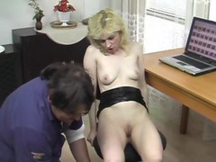Hot Blonde Nicole Enjoys Teasing Herself Hard