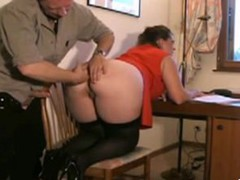 British mature bbw fucked hard on the table. Rough anal