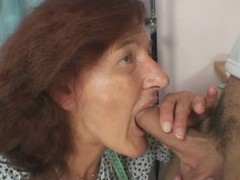 He fucks old seamstress from behind