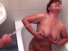 Mature mother gets anal fuck and golden shower