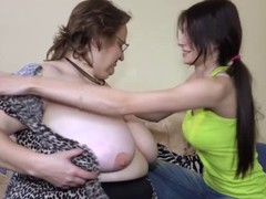 Young slut provides the nanny a great time