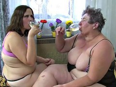 OldNanny Old fat granny and fat teen is enjoying with dildo