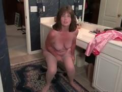 Sexy Mature Lady Shows Us How She Masturbates