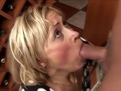 Granny blonde will do such a thing for cock
