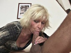 Blonde motherinlaw seduces NOT her son in law