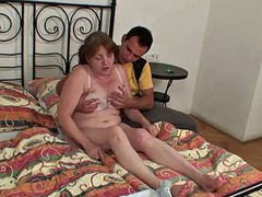 Hot grandma takes it from behind