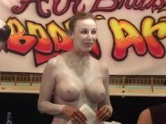 Mature bimbos show off their big boobs