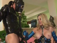 Angela Attison in latex gets shagged